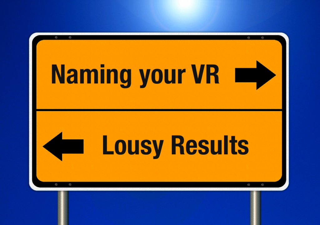 Naming your VR